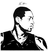 Miami Heat Painting Prints - Wade Print by Tamir Barkan