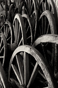 Wagon Wheels Prints - Wagon Wheels Print by John Nelson