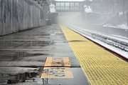Commuting Prints - Waiting on a Train Print by JC Findley
