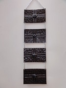 Signed Tapestries - Textiles Originals - Wall Leather Carpet Black Agathe by Jeler Anita