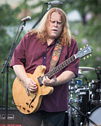 Rock Star Prints Framed Prints - Warren Haynes 2011 Framed Print by Chuck Spang
