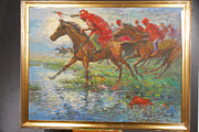 Jihad Paintings - Warriors In Return. Framed by Prosper Akeni