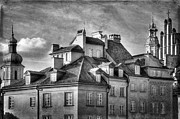 Old Town Digital Art Acrylic Prints - Warsaw Old Town  Acrylic Print by Izabela Kaminska