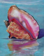 Conch Paintings - Washed Ashore by Eve  Wheeler