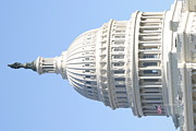 Lit Metal Prints - Washington DC - US Capitol - 01139 Metal Print by DC Photographer