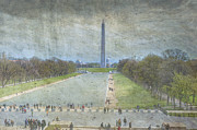 Washington Dc Photos - Washington Monument Memorial Park National Mall Washington DC by David  Zanzinger