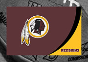Football Helmets Posters - Washington Redskins Poster by Joe Hamilton