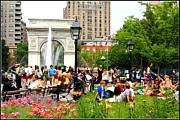 Washington Square Park Print by  Photographic Art and Design by Dora Sofia Caputo