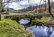 Packhorse Prints - Watendlath Packhorse Bridge Print by Trevor Kersley
