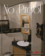 Pater Posters - Water Closet I am All Washed Up dafoi Art 1 of 3  Poster by Ruth  Benoit
