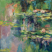 Water Lillies Prints - Water Lilies Print by Michael Creese