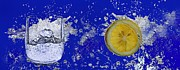 Lemon Art Posters - Water Splash-Lemon Poster by Manfred Lutzius