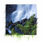 Puy De Dome Posters - Waterfall Poster by Bernard Jaubert