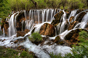 Travel China Posters - Waterfall landscape Poster by Fototrav Print