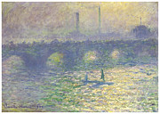 Waterloo Prints - Waterloo Bridge Print by Claude Monet