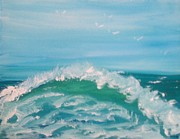Oceanscape Paintings - Wave by M Po
