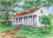 Front Porch Prints - Way Down South Print by Barbel Amos