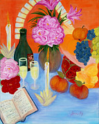 Champagne Painting Originals - Wealth and Comfort. Soul Collection by Oksana Semenchenko