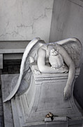 Metairie Cemetery Photos - Weeping Angel VI by Chris Moore