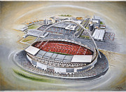 Football Pictures Prints - Wembley Stadium Print by D J Rogers
