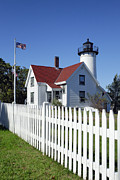 Keepers House Photos - West Chop Lighthouse by John Greim
