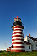 Maine Lighthouses Posters - West Quoddy Lighthouse Poster by John Greim