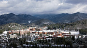 Western Carolina University Framed Prints - Western Carolina University - Winter 2013 Framed Print by Matthew Turlington