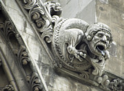 Gothic Cathedral Posters - Westminster Abbey Gargoyle 1 - London Poster by Daniel Hagerman