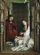 Betrothed Framed Prints - Weyden, Rogier Van Der  1400-1464 Framed Print by Everett