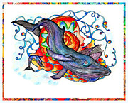 Sea Shell Art Mixed Media Prints - Whale_lady Print by Martin Hardy