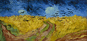 Crows Paintings - Wheat Field with Crows by Vincent Van Gogh