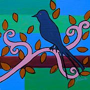 PRISTINE CARTERA TURKUS - WHIMSICAL BLUE BIRD