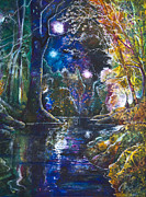 River Art Mixed Media - Whispers on the River by Patricia Allingham Carlson