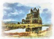 John Adams Prints - Whitby abbey Print by John Adams