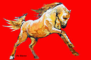Juan Jose Espinoza - Golden Horse In Red