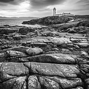 Coastguard Photo Originals - White Lighthouse Fanad Head by Jacek  Kadaj