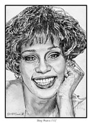 Songwriter Mixed Media Metal Prints - Whitney Houston in 1992 Metal Print by J McCombie
