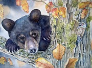 Brown Bear Paintings - Whos There? by Patricia Pushaw