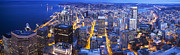 Seattle Prints - Wide Seattle Cityscape Print by Mike Reid