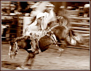 Rodeos Photo Posters - Wild Ride Poster by Bill Keiran