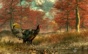 Turkey Digital Art Metal Prints - Wild Turkey Metal Print by Daniel Eskridge