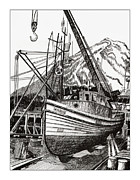 Pen And Ink Framed Prints Prints - Will fish again another day Print by Jack Pumphrey