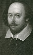 Author Mixed Media Metal Prints - William Shakespeare Metal Print by English School