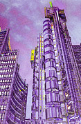 Willis Digital Art - Willis Group and Lloyds of London Art by David Pyatt