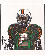 Miami Drawings - Willis McGahee by Jeremiah Colley