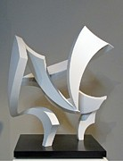 Steel Abstract Sculpture Posters - Wind Poster by John Neumann