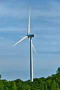 Environmental Conservation Prints - Wind Turbine Print by Amy Cicconi