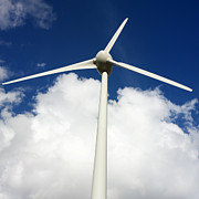 Turbines Photos - Wind turbine  by Bernard Jaubert