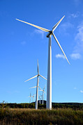 Technology Photos - Wind Turbine Farm  by Olivier Le Queinec