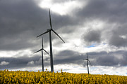 Energy Photos - Wind turbines by Bernard Jaubert